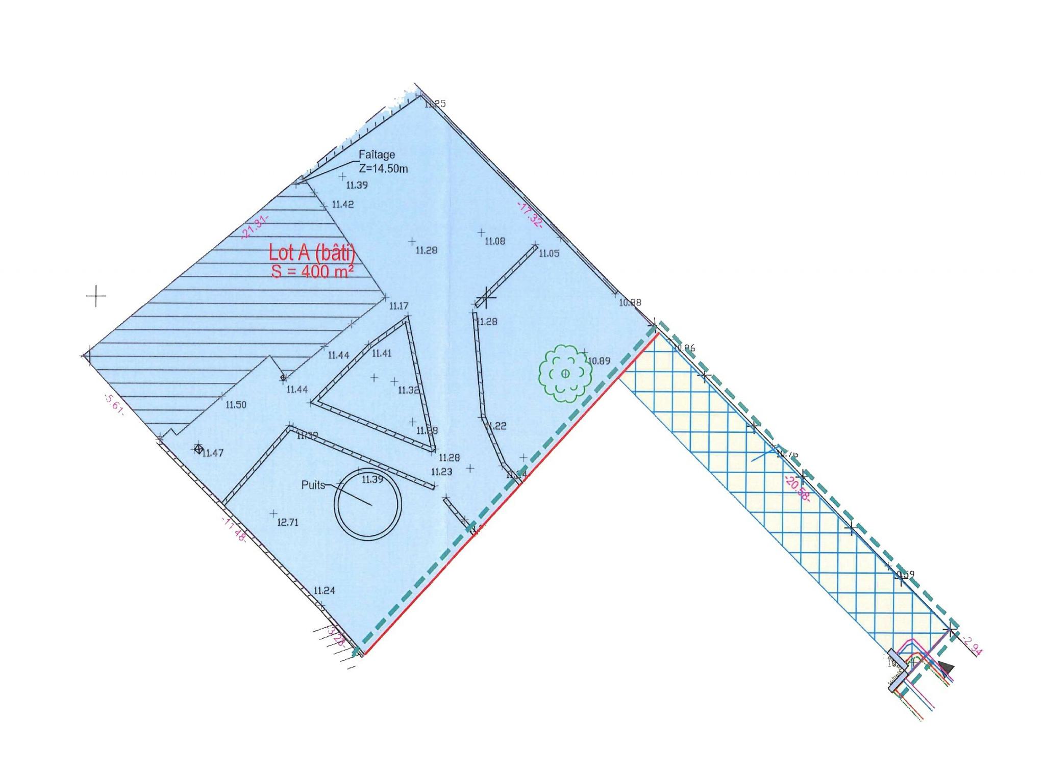 Plan parcelle Frontignan